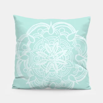 Mint Romantic Mandala #2 #drawing #decor #art Kissen thumbnail image
