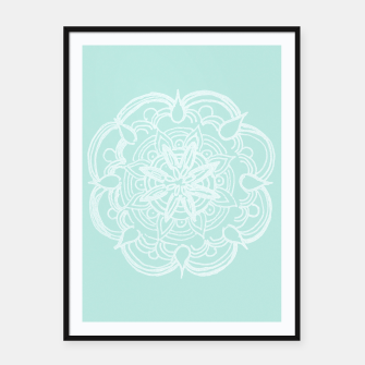 Mint Romantic Mandala #2 #drawing #decor #art Plakat mit rahmen thumbnail image