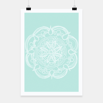 Mint Romantic Mandala #2 #drawing #decor #art Plakat thumbnail image
