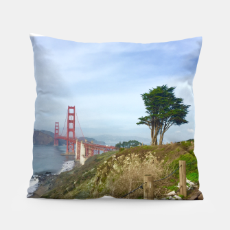 Thumbnail image of The Golden Gate Bridge Trail Pillow, Live Heroes