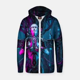 Thumbnail image of The Quantum Zen Queen Zip up hoodie, Live Heroes