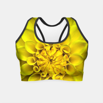 Thumbnail image of Yellow Dahlia Crop Top, Live Heroes