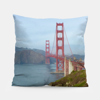 Thumbnail image of Golden Gate Bridge From 1000 Steps Pillow, Live Heroes
