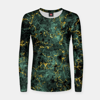 Thumbnail image of GOLD GREEN MARBLE Women sweater, Live Heroes