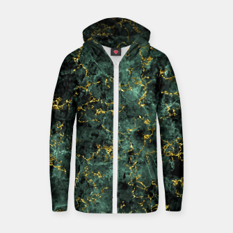 Thumbnail image of GOLD GREEN MARBLE Zip up hoodie, Live Heroes