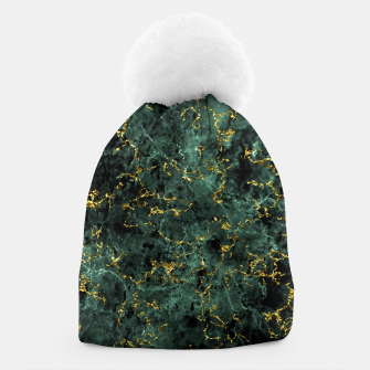 Thumbnail image of GOLD GREEN MARBLE Beanie, Live Heroes