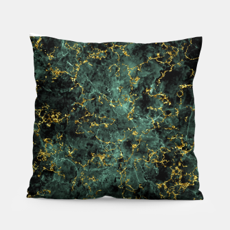 Thumbnail image of GOLD GREEN MARBLE Pillow, Live Heroes