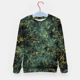 Thumbnail image of GOLD GREEN MARBLE Kid's sweater, Live Heroes