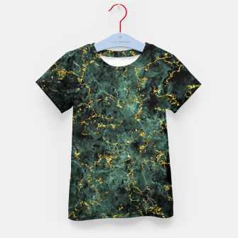 Thumbnail image of GOLD GREEN MARBLE Kid's t-shirt, Live Heroes