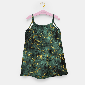 Thumbnail image of GOLD GREEN MARBLE Girl's dress, Live Heroes