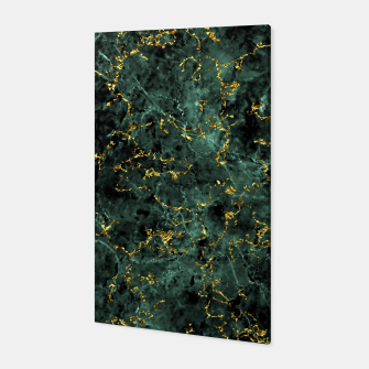 Thumbnail image of GOLD GREEN MARBLE Canvas, Live Heroes