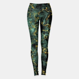 Thumbnail image of GOLD GREEN MARBLE Leggings, Live Heroes