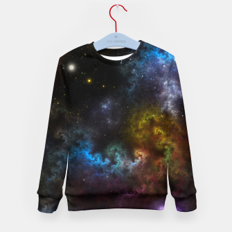 Thumbnail image of Nebula Menagerie Fractal Art Composition Kid's sweater, Live Heroes