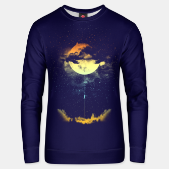 Thumbnail image of moon climbing Unisex sweater, Live Heroes
