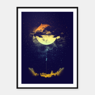 Thumbnail image of moon climbing Framed poster, Live Heroes