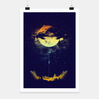 Thumbnail image of moon climbing Poster, Live Heroes