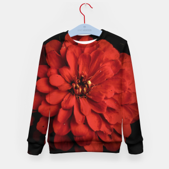 Thumbnail image of Red Dahlia On Black Kid's sweater, Live Heroes