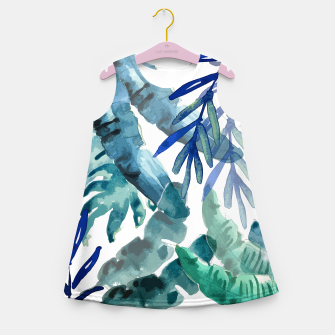 Thumbnail image of Tropical Vibes Girl's summer dress, Live Heroes