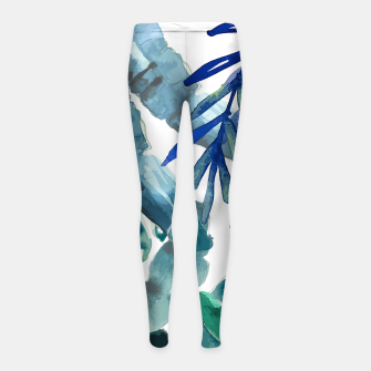Thumbnail image of Tropical Vibes Girl's leggings, Live Heroes
