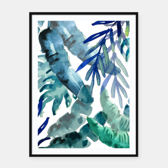 Thumbnail image of Tropical Vibes Framed poster, Live Heroes