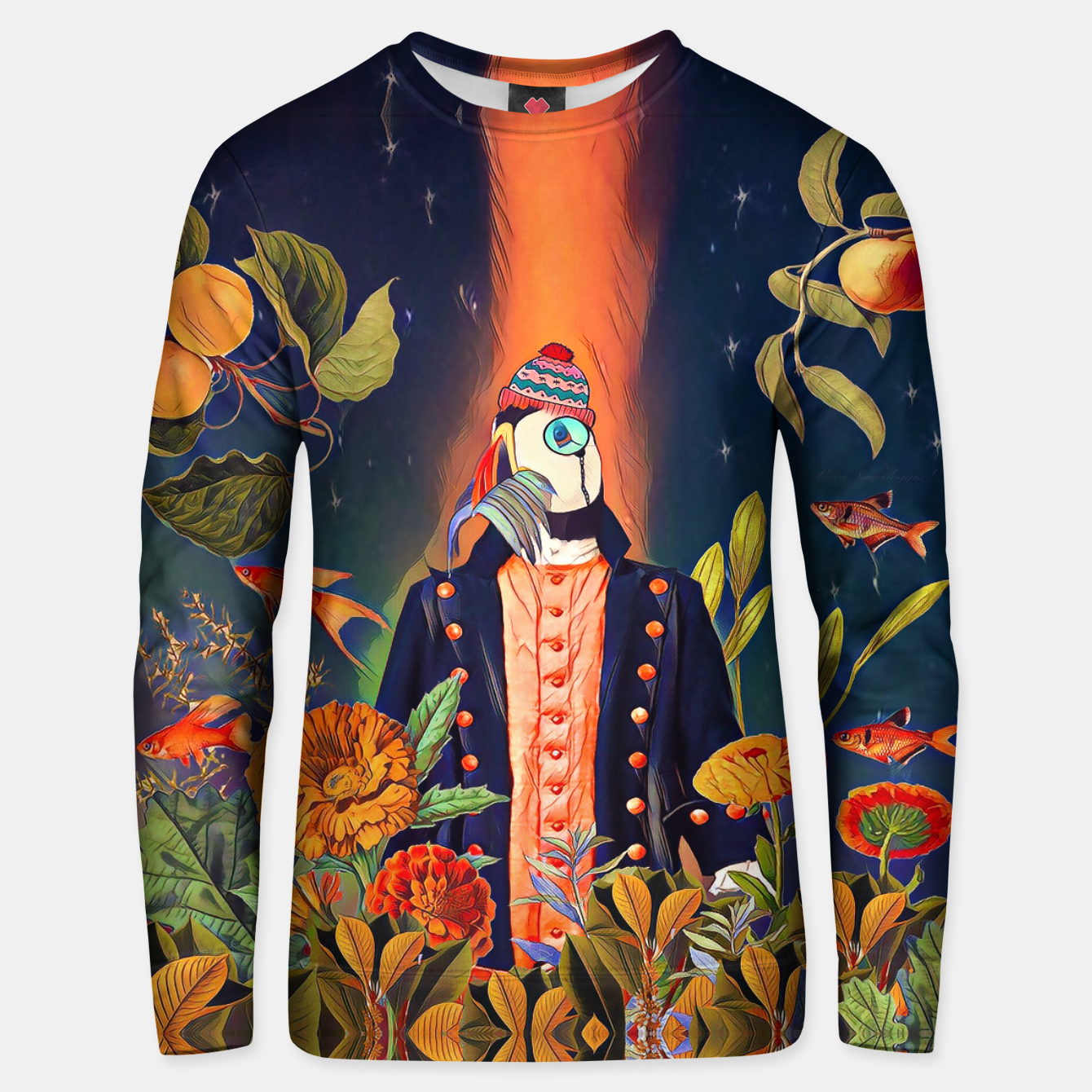 Image of Floral Puffin Unisex sweater - Live Heroes