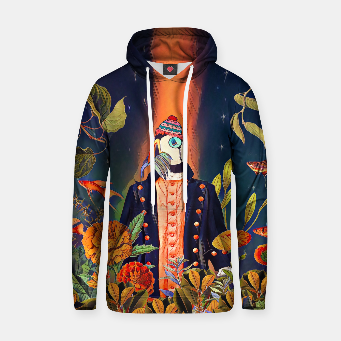 Image of Floral Puffin Hoodie - Live Heroes