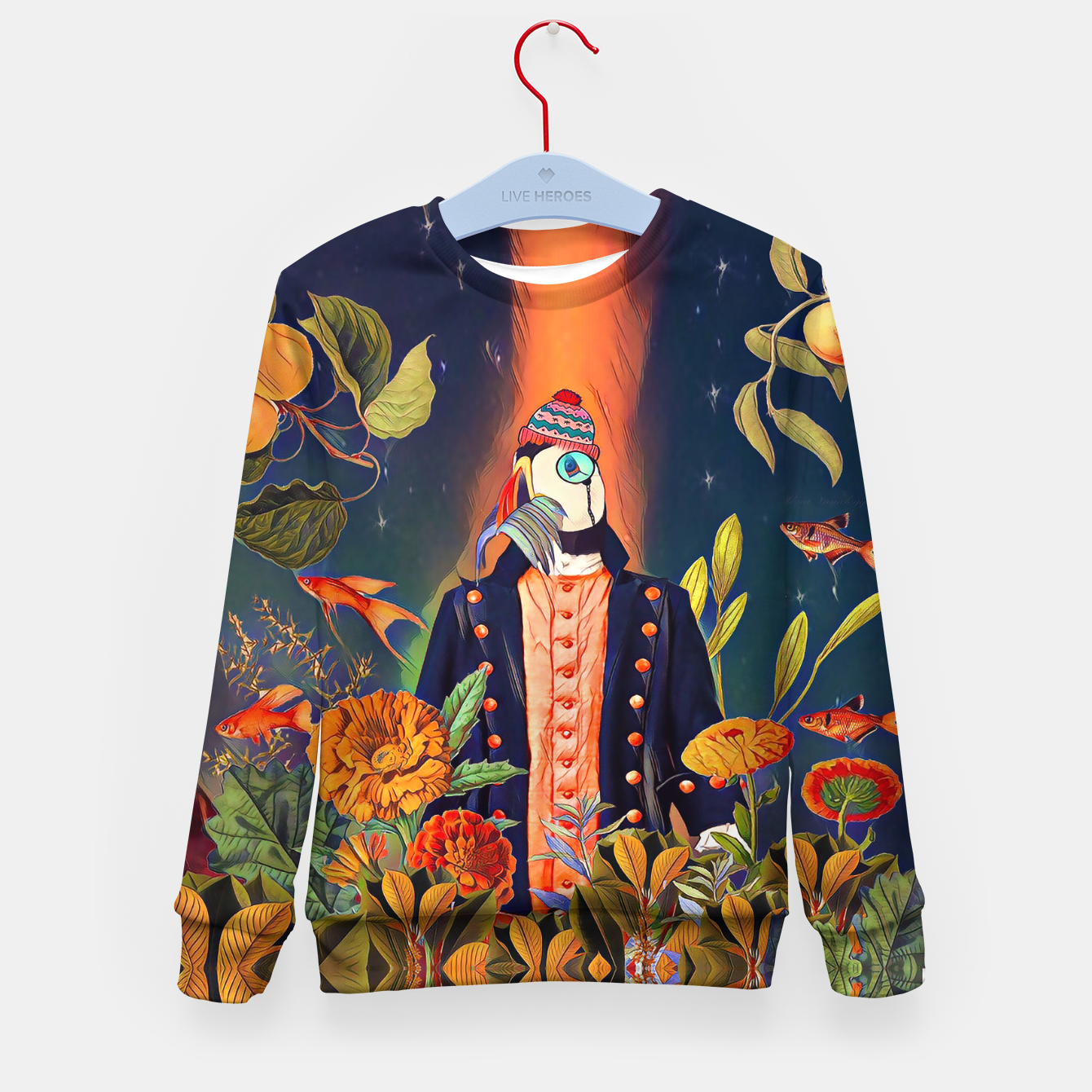 Image of Floral Puffin Kid's sweater - Live Heroes