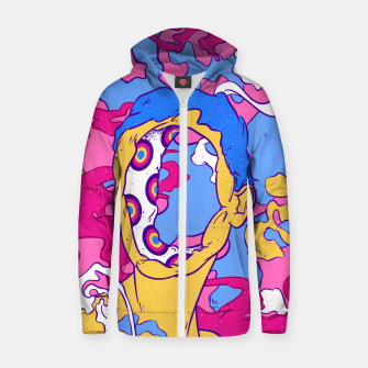 Thumbnail image of Hollow man Zip up hoodie, Live Heroes