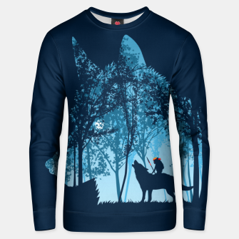 Thumbnail image of Wolf forest Sudadera unisex, Live Heroes
