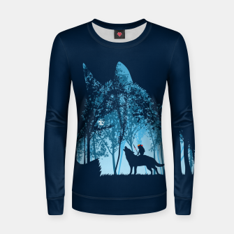 Thumbnail image of Wolf forest Sudadera para mujeres, Live Heroes