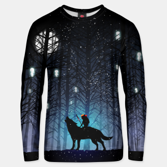 Thumbnail image of Forest wolf Sudadera unisex, Live Heroes