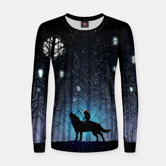 Thumbnail image of Forest wolf Sudadera para mujeres, Live Heroes