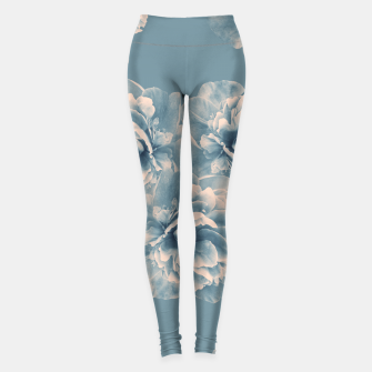 Thumbnail image of Blush Blue Peony Flower Bouquet #1 #floral #decor #art Leggings, Live Heroes