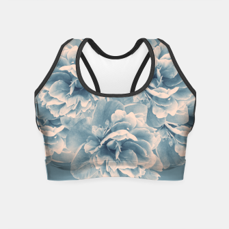 Thumbnail image of Blush Blue Peony Flower Bouquet #1 #floral #decor #art Crop Top, Live Heroes