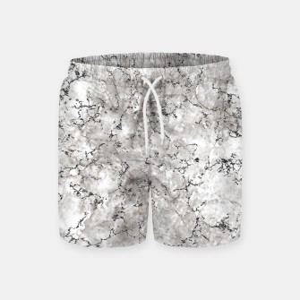 Thumbnail image of SILVER GREY MARBLE Swim Shorts, Live Heroes