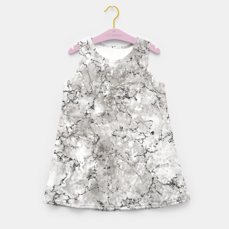 Thumbnail image of SILVER GREY MARBLE Girl's summer dress, Live Heroes