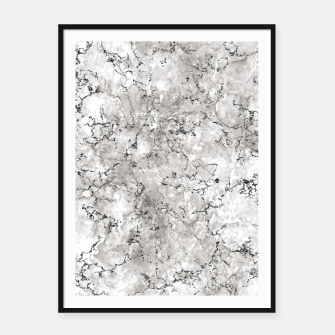 Thumbnail image of SILVER GREY MARBLE Framed poster, Live Heroes