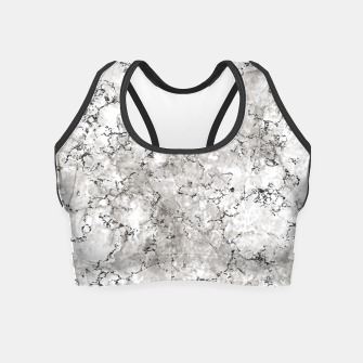 Thumbnail image of SILVER GREY MARBLE Crop Top, Live Heroes