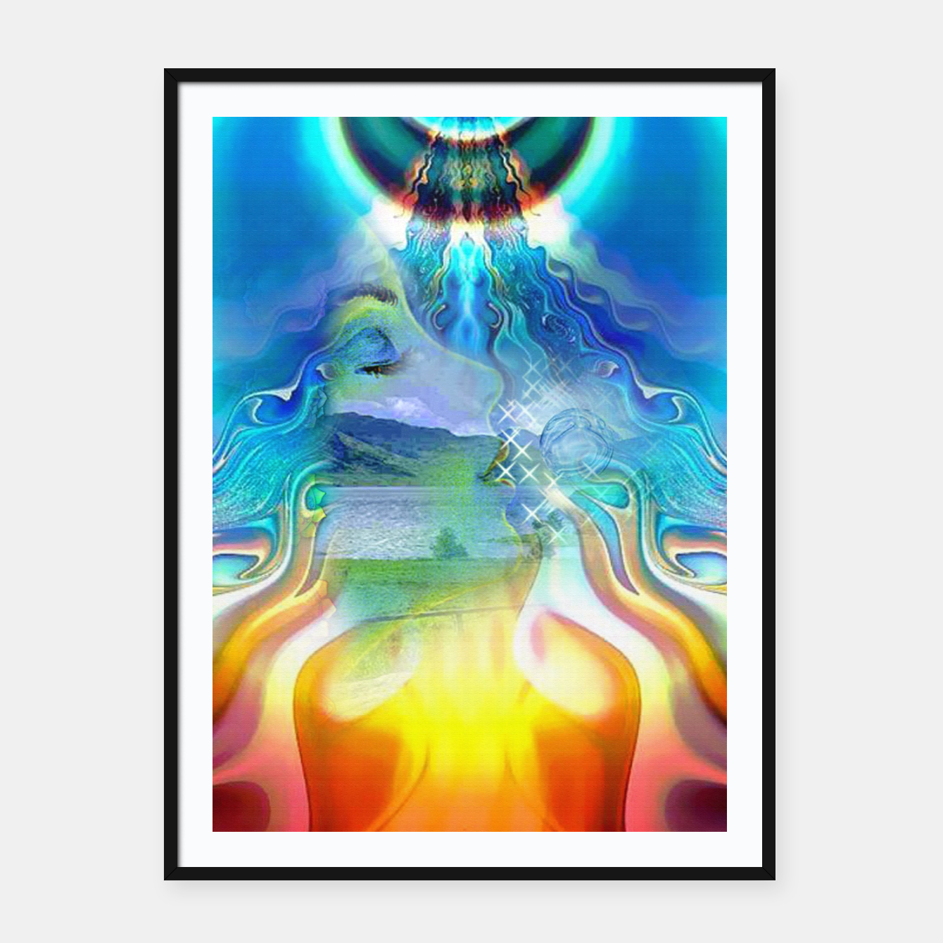 Image of Universal Energy Framed poster - Live Heroes