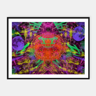 Miniature de image de Solar Sadness (astrology, sun, visionary, abstract) Framed poster, Live Heroes