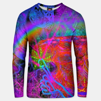 Thumbnail image of E.T.'s Finger (ultraviolet, psychedelic, alien) Unisex sweater, Live Heroes