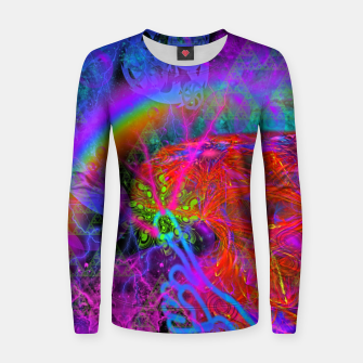Thumbnail image of E.T.'s Finger (ultraviolet, psychedelic, alien) Women sweater, Live Heroes