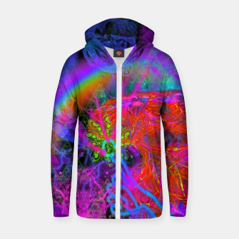 Thumbnail image of E.T.'s Finger (ultraviolet, psychedelic, alien) Zip up hoodie, Live Heroes