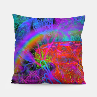 Thumbnail image of E.T.'s Finger (ultraviolet, psychedelic, alien) Pillow, Live Heroes