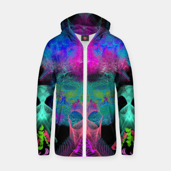 Thumbnail image of Ghostly Exhalations (ultraviolet, vapor, psychedelic, alien) Zip up hoodie, Live Heroes