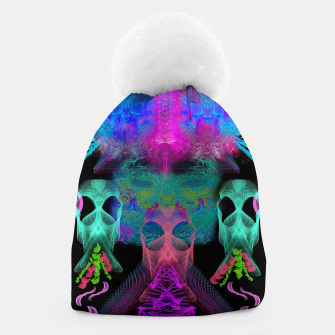 Thumbnail image of Ghostly Exhalations (ultraviolet, vapor, psychedelic, alien) Beanie, Live Heroes