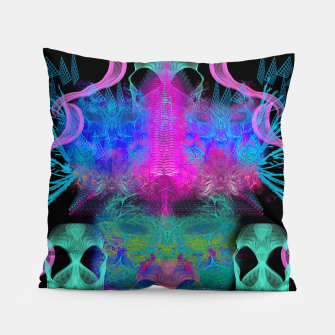 Thumbnail image of Ghostly Exhalations (ultraviolet, vapor, psychedelic, alien) Pillow, Live Heroes