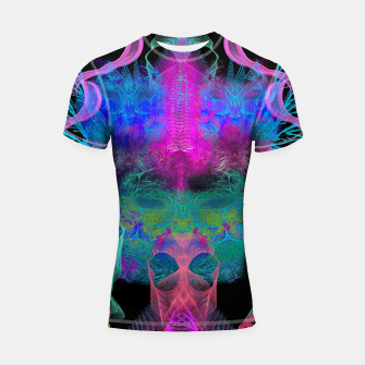 Thumbnail image of Ghostly Exhalations (ultraviolet, vapor, psychedelic, alien) Shortsleeve rashguard, Live Heroes
