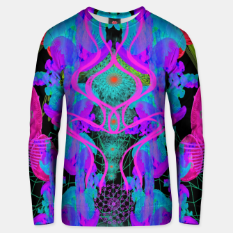 Thumbnail image of Jellyfish Warp (ultraviolet, psychedelic, underwater, trippy) Unisex sweater, Live Heroes