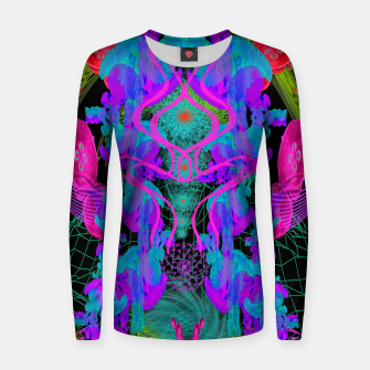 Thumbnail image of Jellyfish Warp (ultraviolet, psychedelic, underwater, trippy) Women sweater, Live Heroes